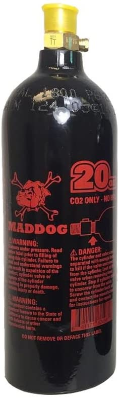 Maddog 20 Oz Aluminum CO2 Paintball Tank